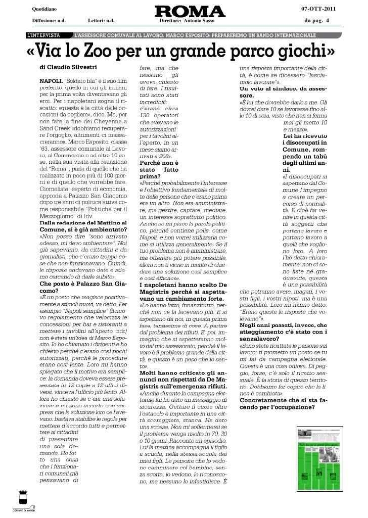 Quotidiano                                                    07-OTT-2011Diffusione: n.d.   Lettori: n.d.   Direttore: Ant...