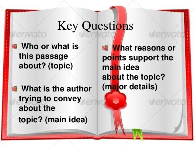 Identifying Topic, Main Idea and Details