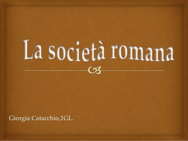 Giorgia Catacchio,1GL.