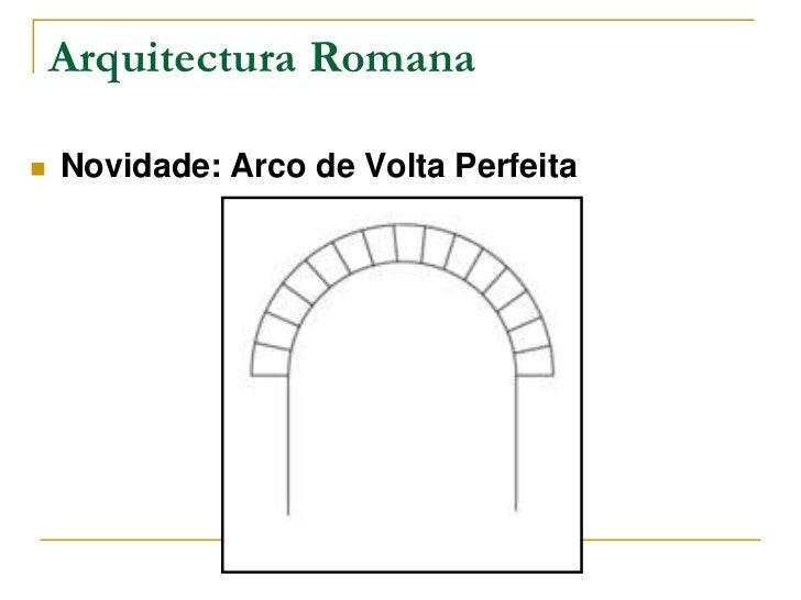 Arquitectura Romana   Novidade: Arco de Volta Perfeita
