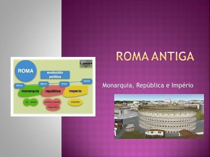 Monarquia, República e Império