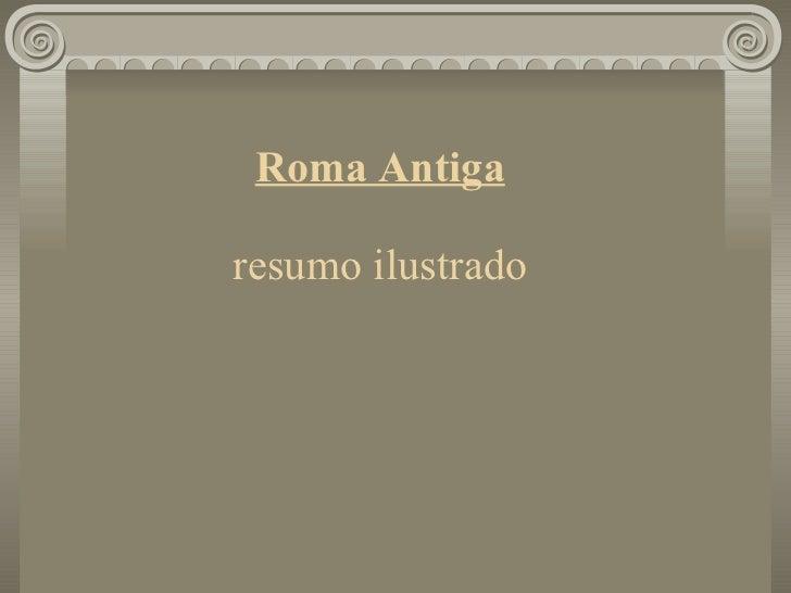Roma Antiga resumo ilustrado