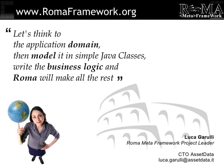 Let's think to the application  domain , then  model  it in simple Java Classes, write the  business logic  and Roma  will...