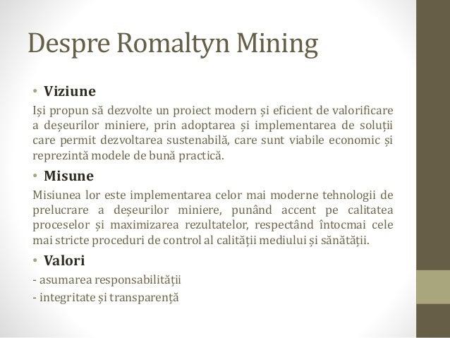 Romaltyn Mining - descriere companie Slide 2