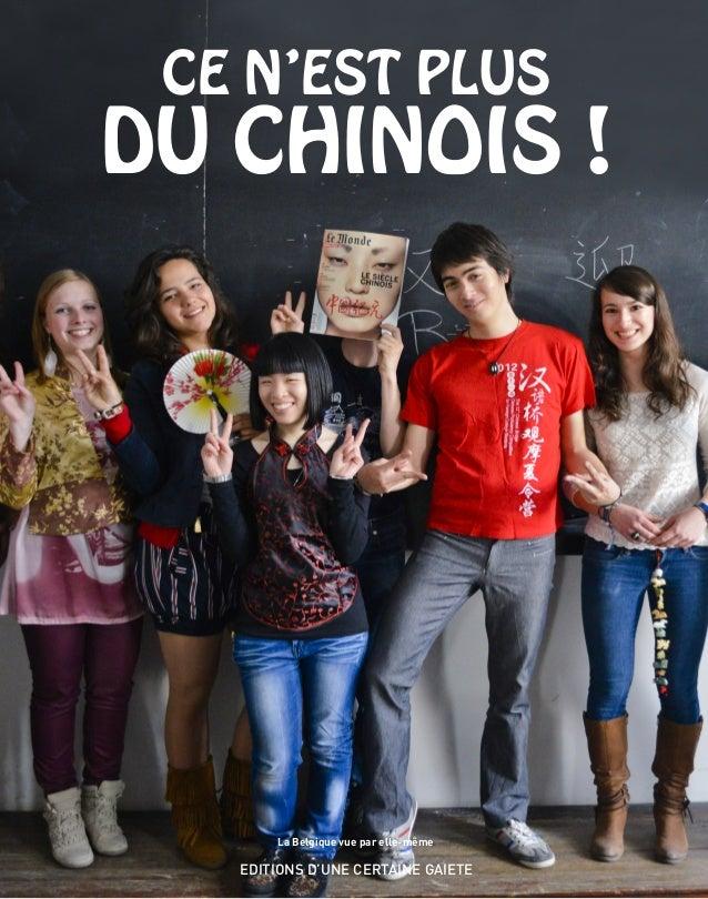 La Belgique vue par elle-même EDITIONS D'UNE CERTAINE GAIETE CE N'EST PLUS DU CHINOIS !