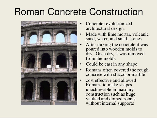 roman concrete construction concrete revolutionized architectural design - Roman Design Architecture