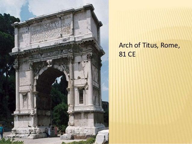 Roman art ppt arch of titus romebr 81 cebr toneelgroepblik Gallery