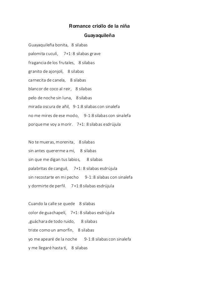 romance criollo de la ni u00f1a guayaquile u00f1a