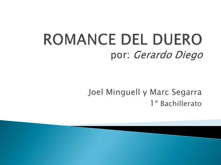 Joel Minguell y Marc Segarra                1º Bachillerato