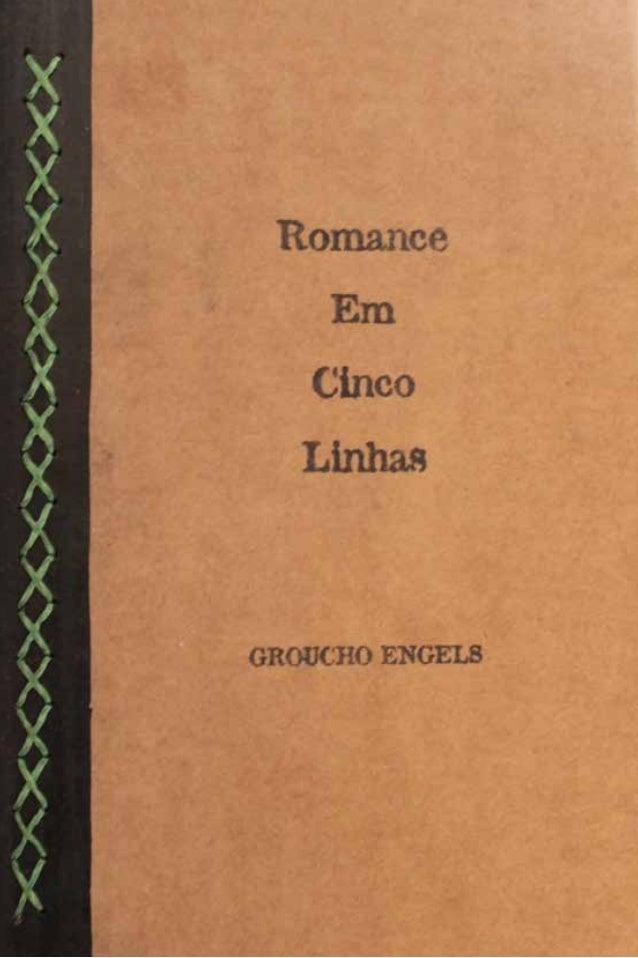 Romance Em Cinco Linhas