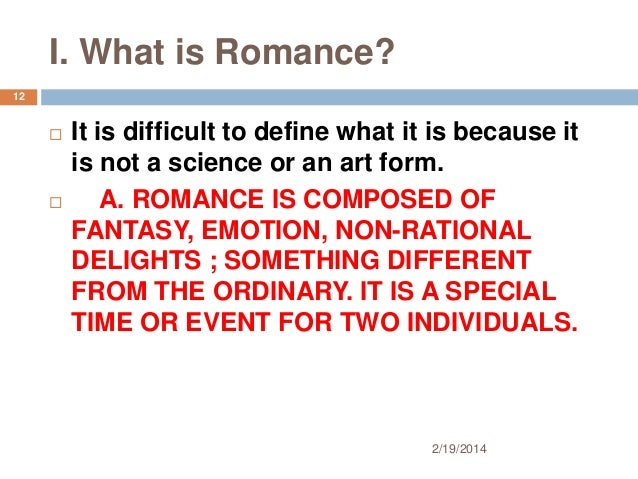 romance what is it