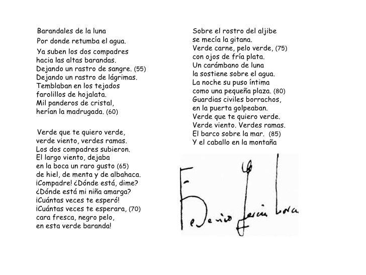 Resultado de imagen de romancero gitano poema