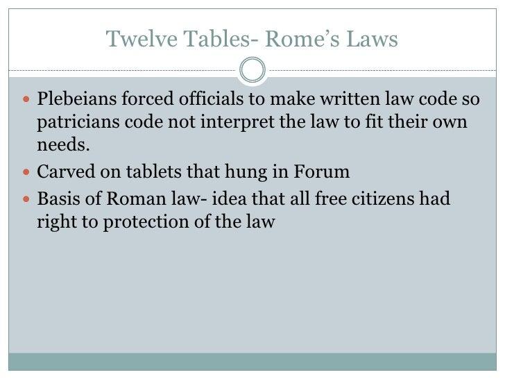twelve tables translation