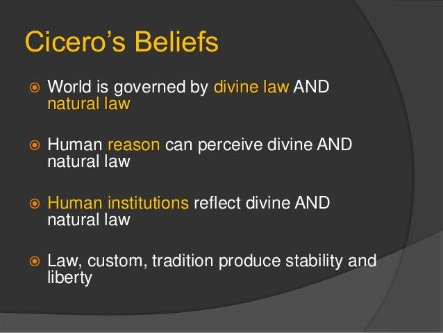 Cicero S Natural Law