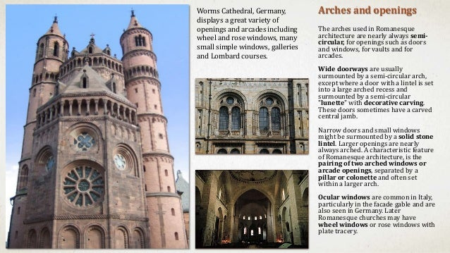13 Arches And Openings The Used In Romanesque Architecture