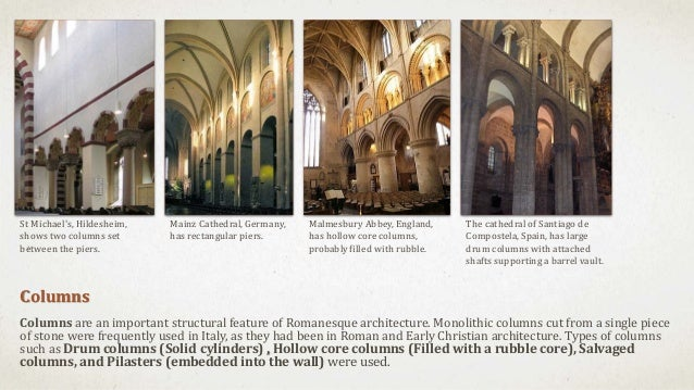 Columns Are An Important Structural Feature Of Romanesque Architecture