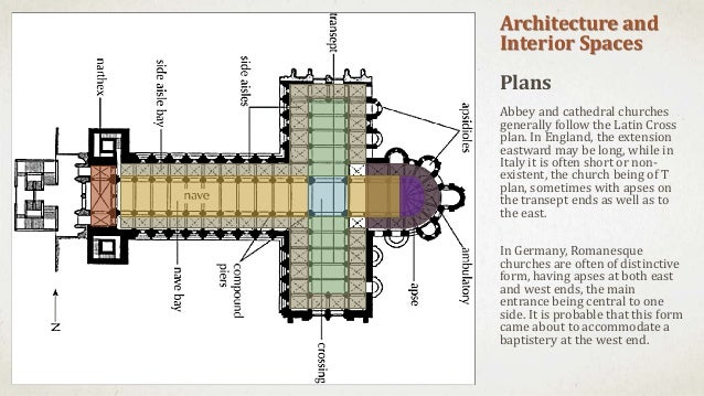 introduction to romanesque architecture floor plan of cathedral crossing trend home design and decor