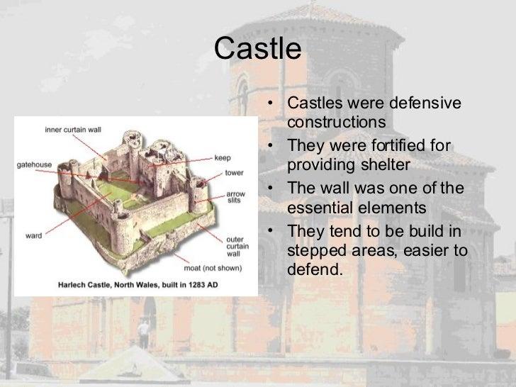 Castle <ul><li>Castles were defensive constructions </li></ul><ul><li>They were fortified for providing shelter </li></ul>...