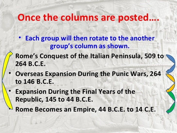 Once the columns are posted….     • Each group will then rotate to the another               group's column as shown.•   R...