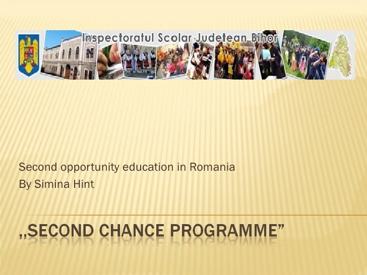 Second opportunity education in Romania By Simina Hint