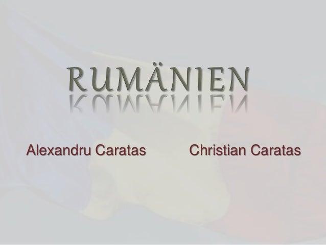 Alexandru Caratas Christian Caratas
