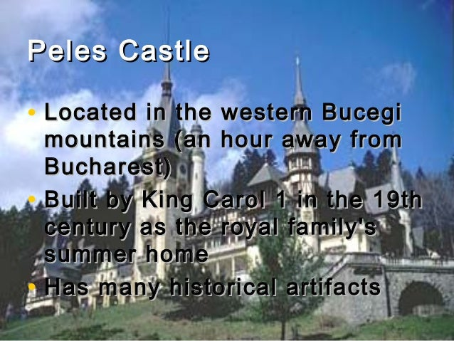 Peles Castle • Located in the western Bucegi • •  mountains (an hour away from Bucharest) Built by King Carol 1 in the 19t...