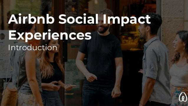 Airbnb Social Impact Experiences Introduction