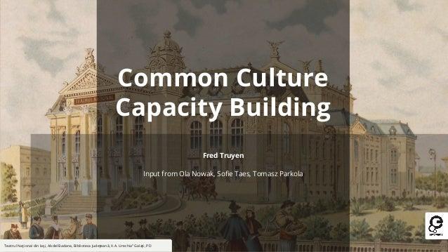 """Common Culture Capacity Building Teatrul Naţional din Iaşi, Abdel Badana, Biblioteca Judeţeană, V.A. Urechia"""" Galaţi, PD F..."""