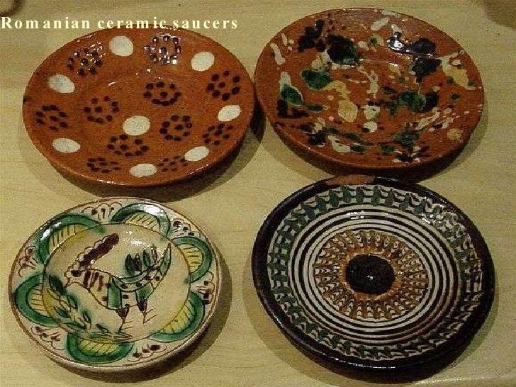 Romanian ceramic saucers