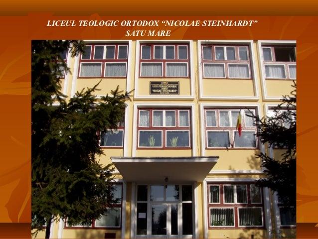 "LICEUL TEOLOGIC ORTODOX ""NICOLAE STEINHARDT""                 SATU MARE"