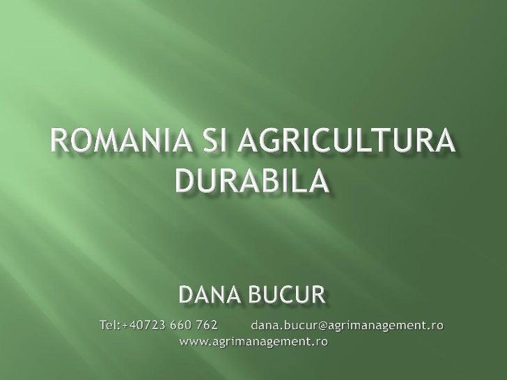    BONITARE:       Categoria I (mai mult de 81 puncte): 3,964,865 ha teren        agricol, din care teren arabil: 3,454,...