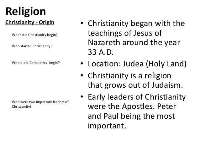how did the religion of christianity Religion dedicated to understanding reality the way it really is if it's real, we believe in it the church of reality is not based on christianity, faith, jesus.
