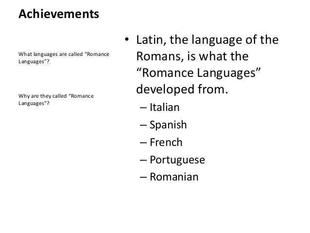 Roman Lesson 4 - Achievements Part 2