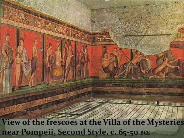 The ancient greeks and the romans art graceful goddess for Ancient greek mural