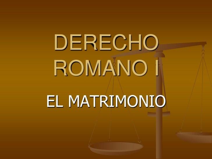 Matrimonio Romano Trabajo Monografico : Romano i leccion