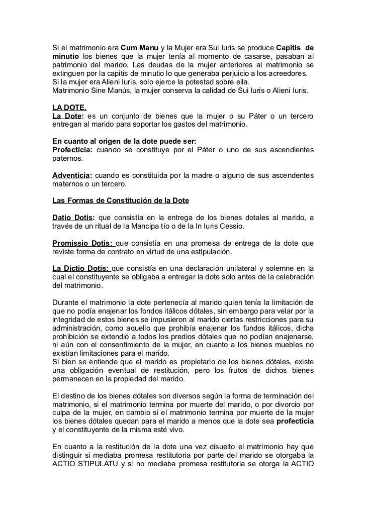 Derecho Romano Matrimonio Sine Manu : Derecho romano