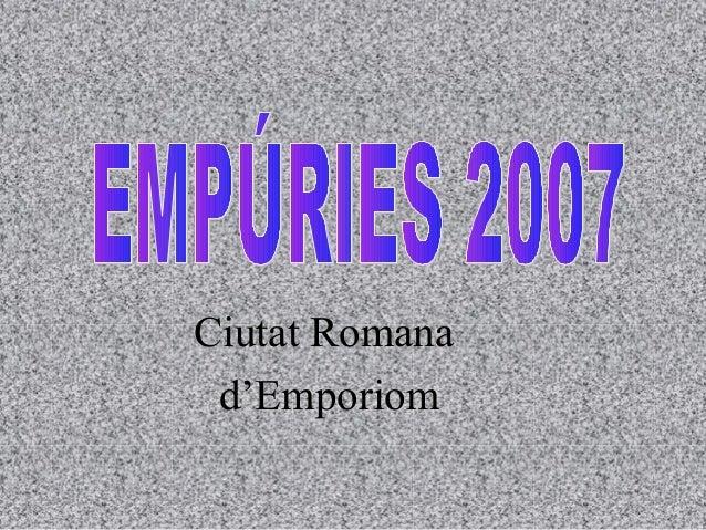 Ciutat Romana d'Emporiom