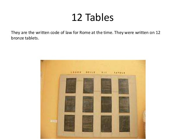12 tables of rome