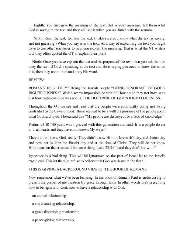 Romans 10 full outline