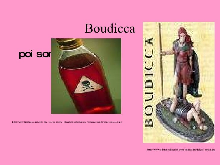 Boudicca <ul><li>poison </li></ul>http://www.tampagov.net/dept_fire_rescue_public_education/information_resources/adults/i...