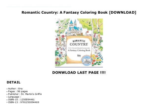 1070+ Romantic Country A Fantasy Coloring Book Best HD