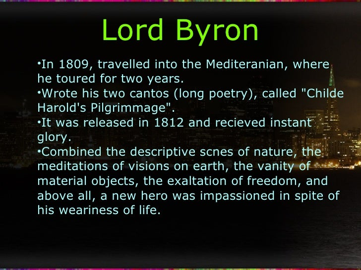poetry of lord byron essay Classic poetry series george gordon byron - poems - publication date: commonly known simply as lord byron the world's poetry archive 1.
