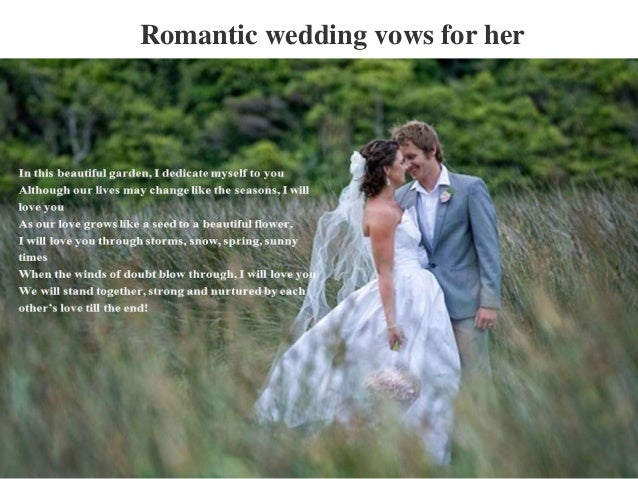 Romantic Wedding Vows For Her
