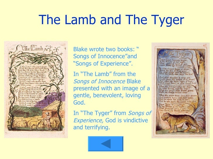 A review of william blakes poems the lamb and the tyger