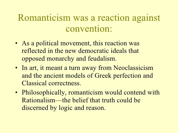 Romanticism beliefs