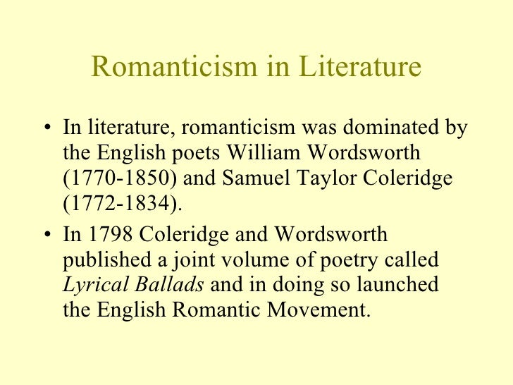 the romantic period literature