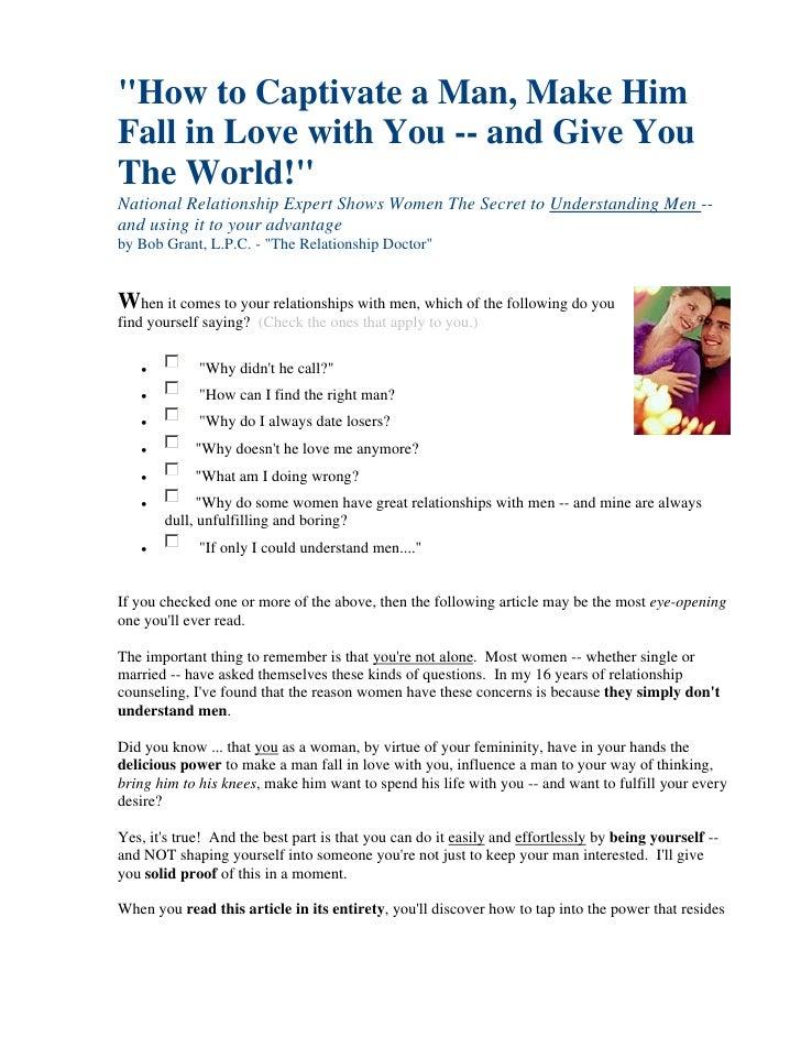 Secrets To Understanding The Men Youre Dating