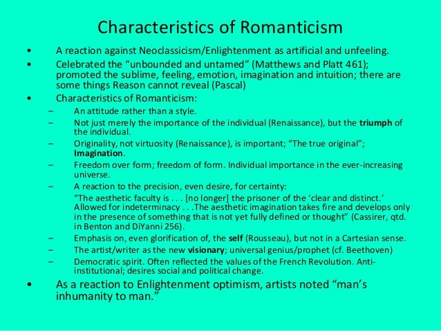 romanticism vs neoclassicism essay Comparison of romanticism and victorian literature get full essay get access to this section to get all help you need with your essay and educational issues try it free neoclassicism movement of literature.