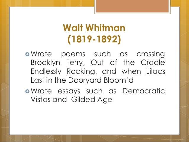 a analysis of walt whitmans poem crossing brooklyn ferry