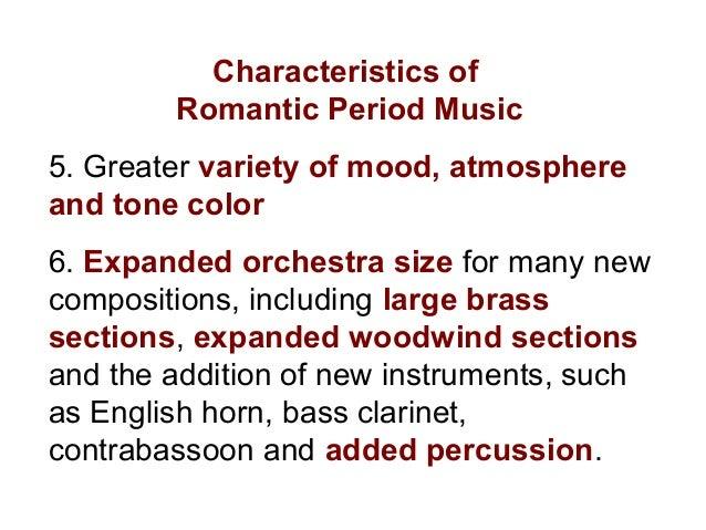 Characteristics romanticism